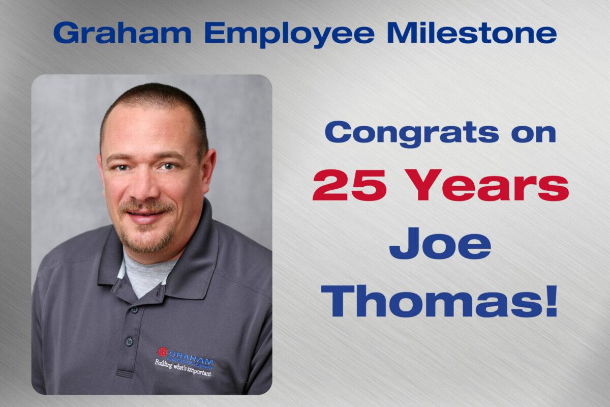 Joe Thomas Employee Milestone